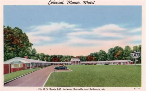 colonial motel maryland motels 1940s 1950s history kilduffs