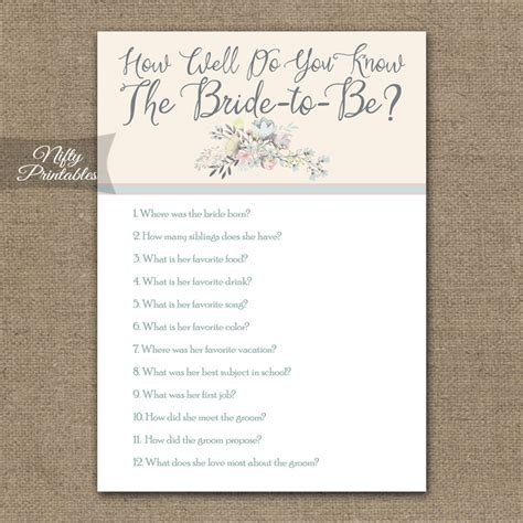 Wedding Bouquet Quiz by Printable How Well Do You The Trivia