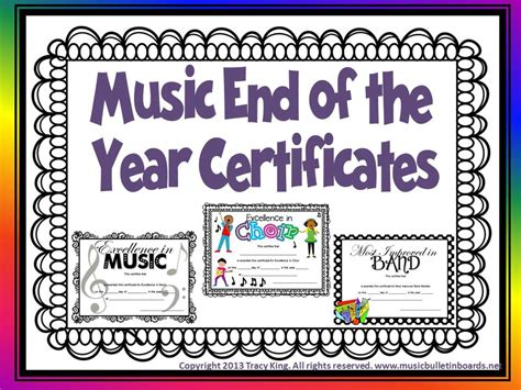 choir certificate template certificates for end of the year awards other