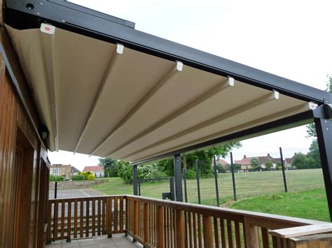 Motorized Awning Bespoke Retractable Canopies Roof Systems Aspiration Blinds
