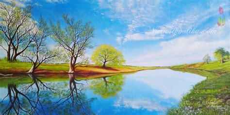 landscape painting nature standstill