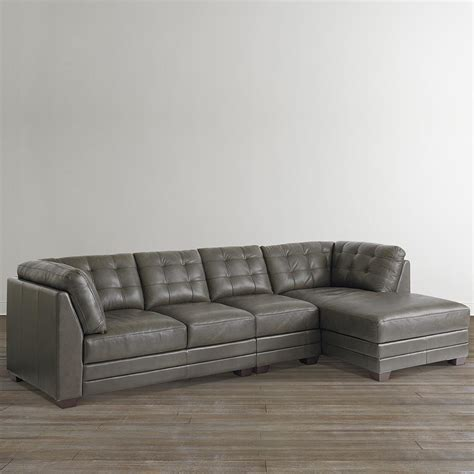 Leather Chaise Sofa Sectional Sofas Leather And Fabric Sectional Leather Sofas With Chaise