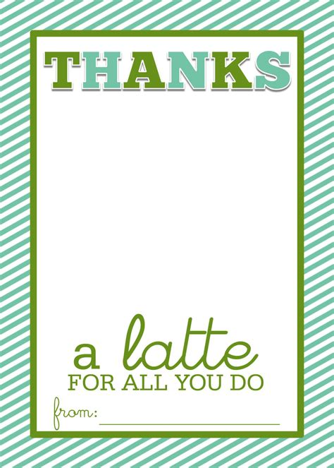 Starbucks Teacher Appreciation Gift Card - thanks a latte on pinterest