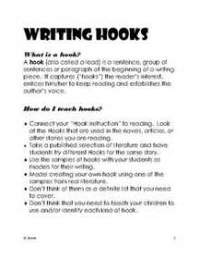 Types Of Hooks For Essays by Writing Hooks B B Productions Teacherspayteachers