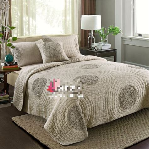 full bedding sets the new peached cotton quilting comforter bedding sets