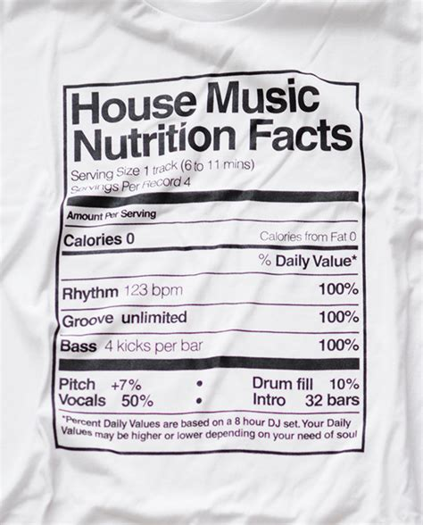 house music facts playera house music nutrition facts black room