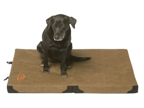 foldable pet bed mud river frisco folding travel dog bed 44 x 30 x 3 waxed canvas brown