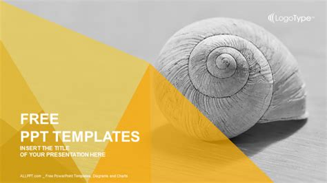 design cover powerpoint snail abstract powerpoint templates