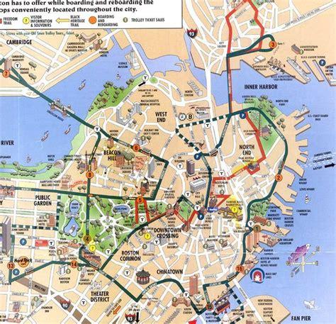 printable map boston boston cruise port guide cruiseportwiki com design