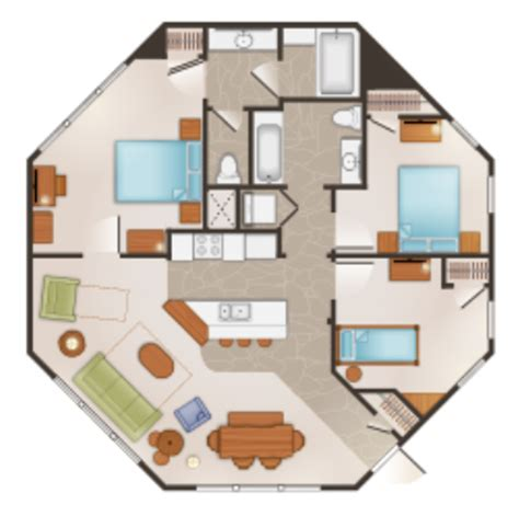 disney saratoga springs treehouse villas floor plan disney s saratoga springs resort spa vacation