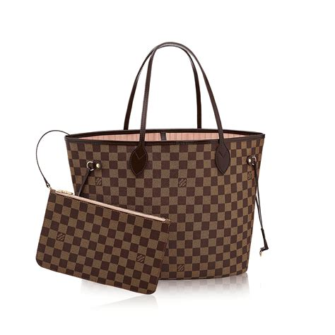 neverfull mm damier ebene canvas handbags louis vuitton