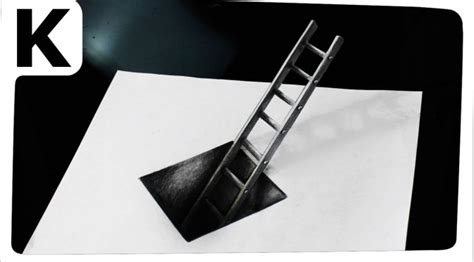 How To Make Optical Illusions On Paper - how to draw 3d optical illusion with ladder