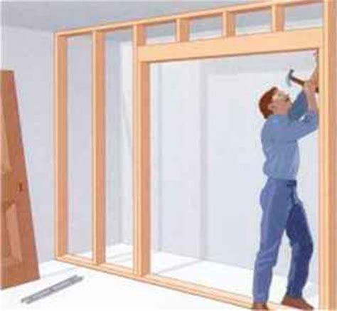 Opening For Bifold Door by Building A Partition Wall Home Carpentry Green