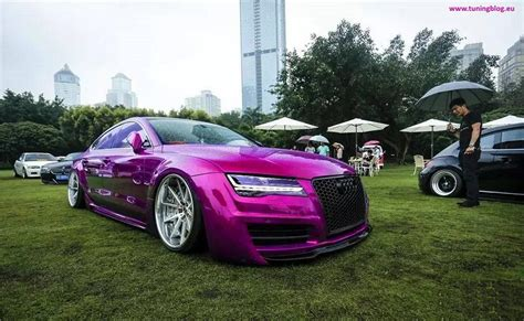 pink audi a7 wide body audi a7 s7 in pink with facelift headlights