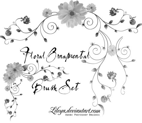 flower pattern gimp floral ornamental brush set decorative photoshop brushes