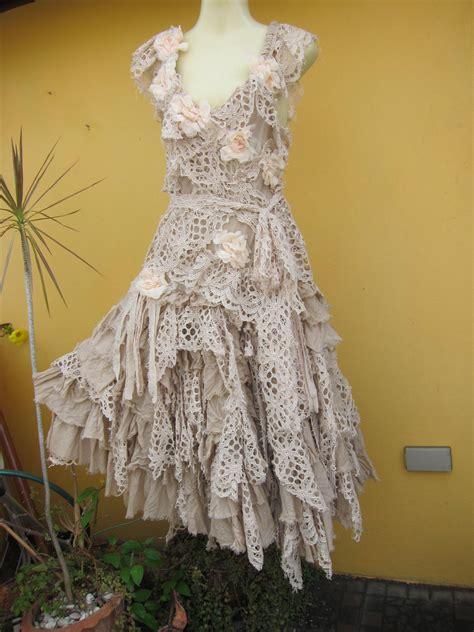 RESERVED..vintage inspired shabby bohemian gypsy dress 30