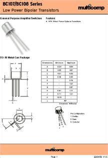 bcc datasheet specifications transistor polarity