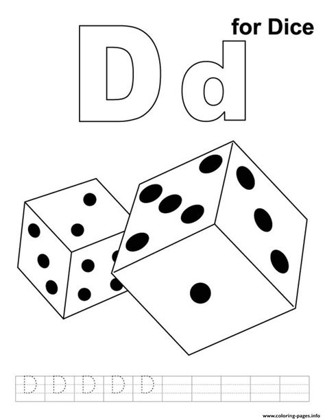 free printable alphabet dice d for dice printable alphabet s10cab coloring pages printable