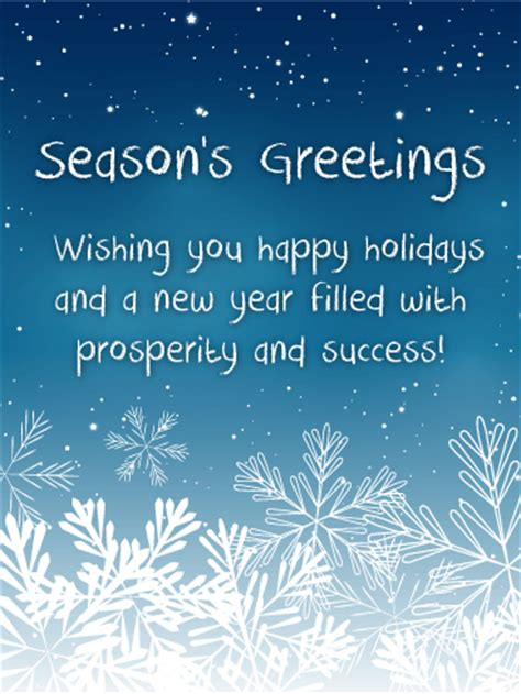 seasons greetings and new year 2018 e cards snowing season s greetings cards birthday greeting cards by davia