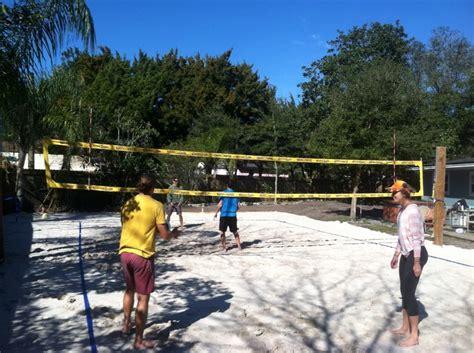 how to build a beach in your backyard backyard beach volleyball court outdoor goods
