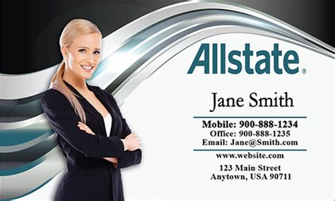 designs for insurance adjuster business card template blue allstate business card design 201191