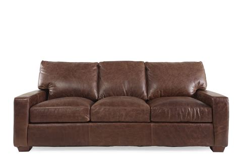 Chestnut Leather Sofa Usa Leather Chestnut Leather Sofa Mathis Brothers Furniture