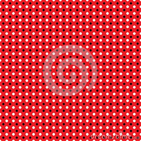 beautiful seamless vector polka dots pattern background can beautiful seamless white black polka dots pattern on red