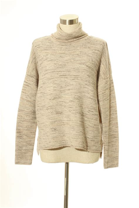 16689 Brown Turtle Neck Sweater truehitt turtle neck brown sweater