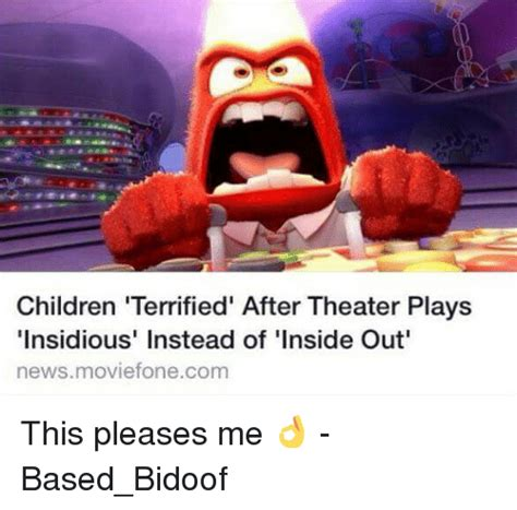 movie plays insidious instead of inside out children terrified after theater plays insidious