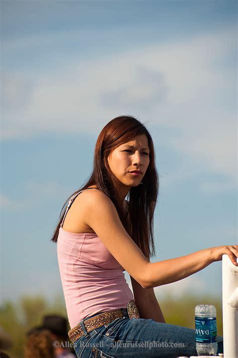 karina cowgirl fitness teen beauty native american teenage girl at miles city bucking horse