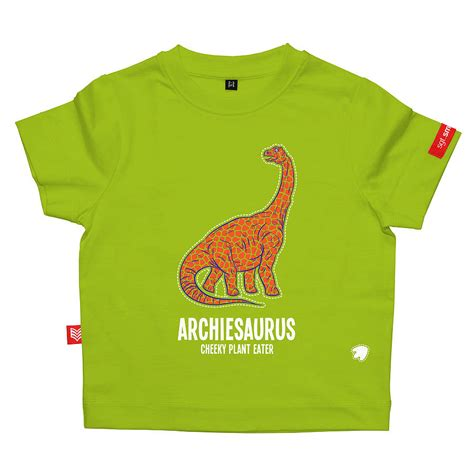 personalised diplodocus dinosaur t shirt by sgt smith