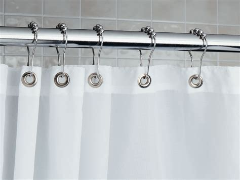 curtain rollers roller shower curtain rings chrome set of 12 in shower