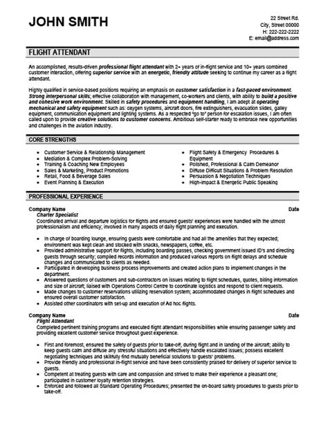 Sle Resume For Experienced Php Developer Free Flight Attendant Resume Template Professionally 28 Images Flight Attendant Resume Step By
