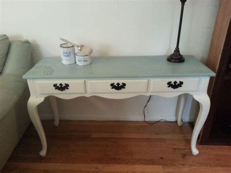 Coastal Cottage Style Writing Desk Painted Cottage Console Sofa Writing Desk Table