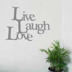 Live Laugh Love Wall Stickers Live Laugh Love Vinyl Wall Sticker By Oakdene Designs