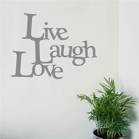 live laugh stickers for wall live laugh vinyl wall sticker by oakdene designs