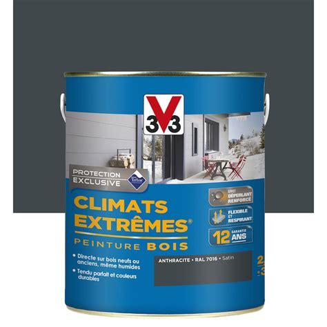 peinture bois ext 233 rieur climats extr 234 mes v33 gris anthracite 2 5 l leroy merlin