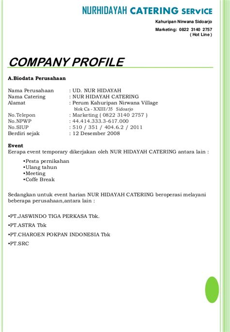 simple business profile template pdf