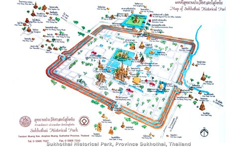 sukhothai historical park map sukhothai historical park province sukhothai thailand