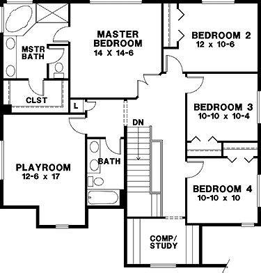 craftsman floor plans 2 story craftsman 2 story 2nd floor four bedroom craftsman