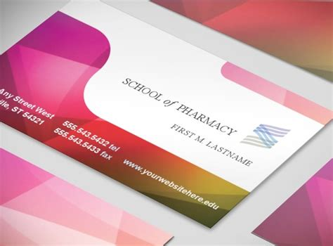 Pharmacy Business Card Template by Pharmacy School Pharmacist Education Business