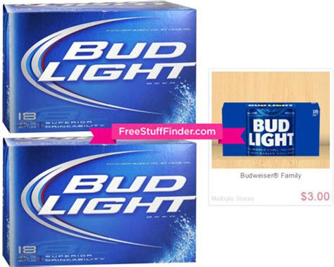 bud light on sale this week 4 99 reg 13 budlight 18 pack at walgreens