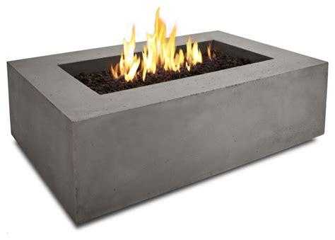 modern propane pit baltic rectangle table glacier gray modern
