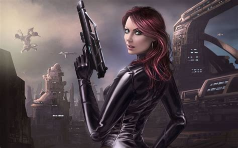 wallpaper vire girl with gun warrior wallpapers and images wallpapers bring