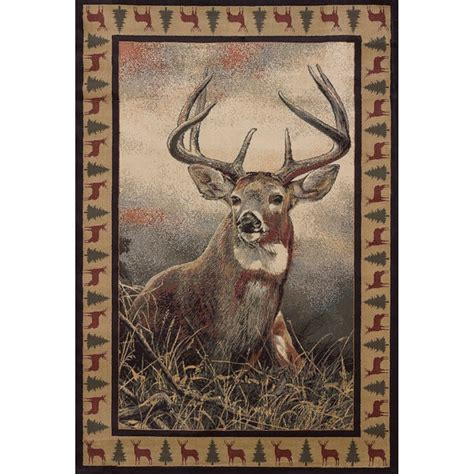Deer Area Rugs Majestic Whitetail Deer Area Rugs