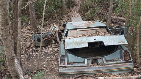 abandoned car in front of my house abandoned car turned into a trail bridge shreveport la oc 2972x1671 abandonedporn