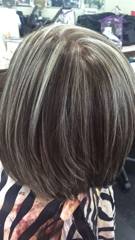 images of highlights on short gray hair 72 best all grey blending images on pinterest grey hair