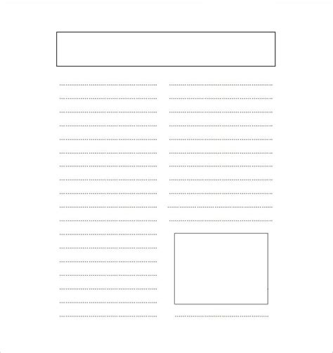 Newspaper Template by Free Printable Newspaper Template Printable Template 2017
