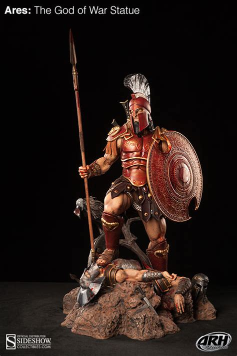 ares mars statue greek roman god of war figure bronze 12 5 polyvore ares the god of war sideshow collectibles