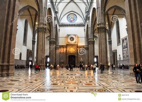 chiesa santa fiore firenze florence november 10 the nave of the basilica di santa